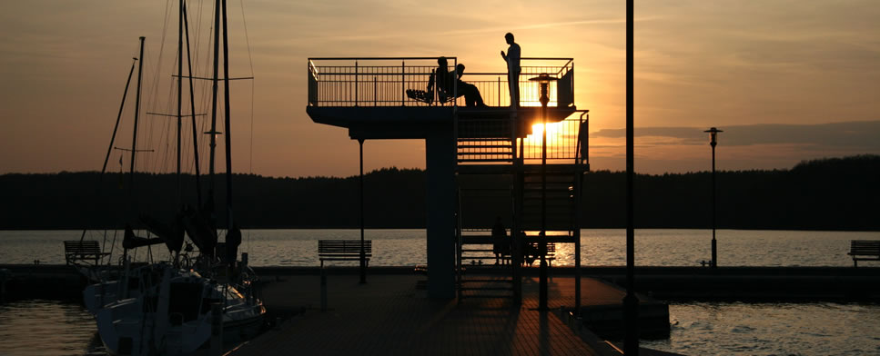 The Observation Tower at the Marina in Charzykowy